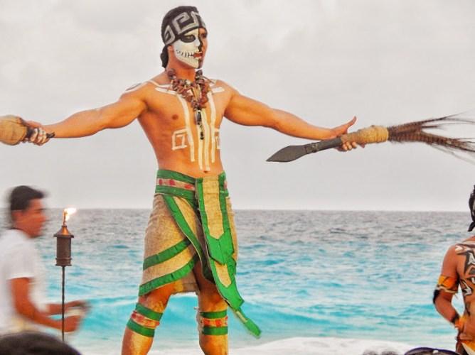 Aztec moon Dance on the Beach