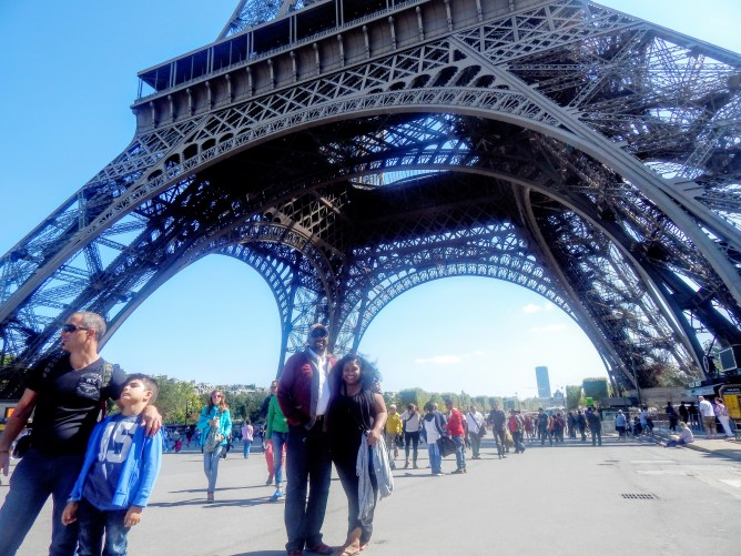The Hubby and I under the Eiffel Tower