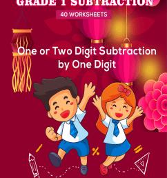 Kandil's Weekly Math Practice: Grade 1 Subtraction - 40 Worksheets [ 1200 x 800 Pixel ]