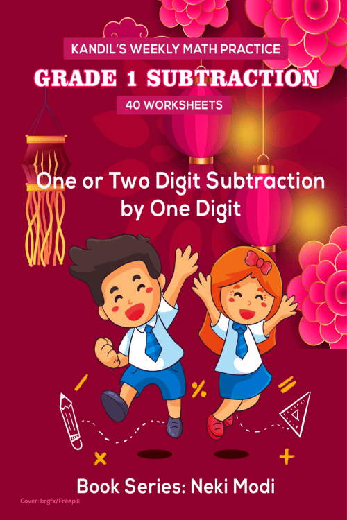 small resolution of Kandil's Weekly Math Practice: Grade 1 Subtraction - 40 Worksheets