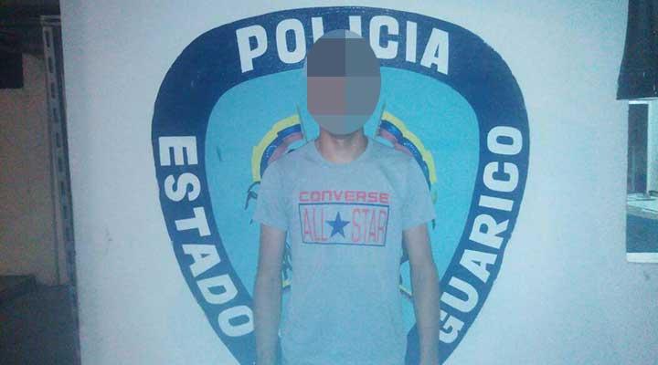 Hombre fue capturado luego de intentar agredir a un menor.