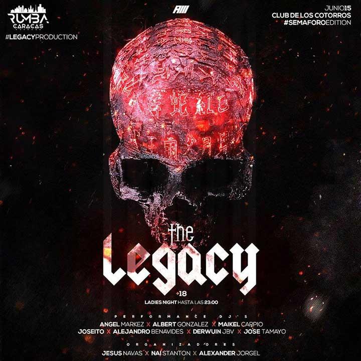 Fiesta The Legacy producida por Rumbas Caracas.