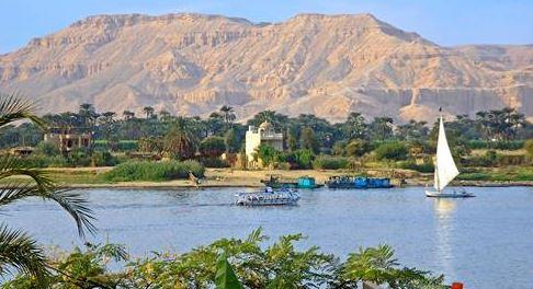 Navegable Nilo en Egipto
