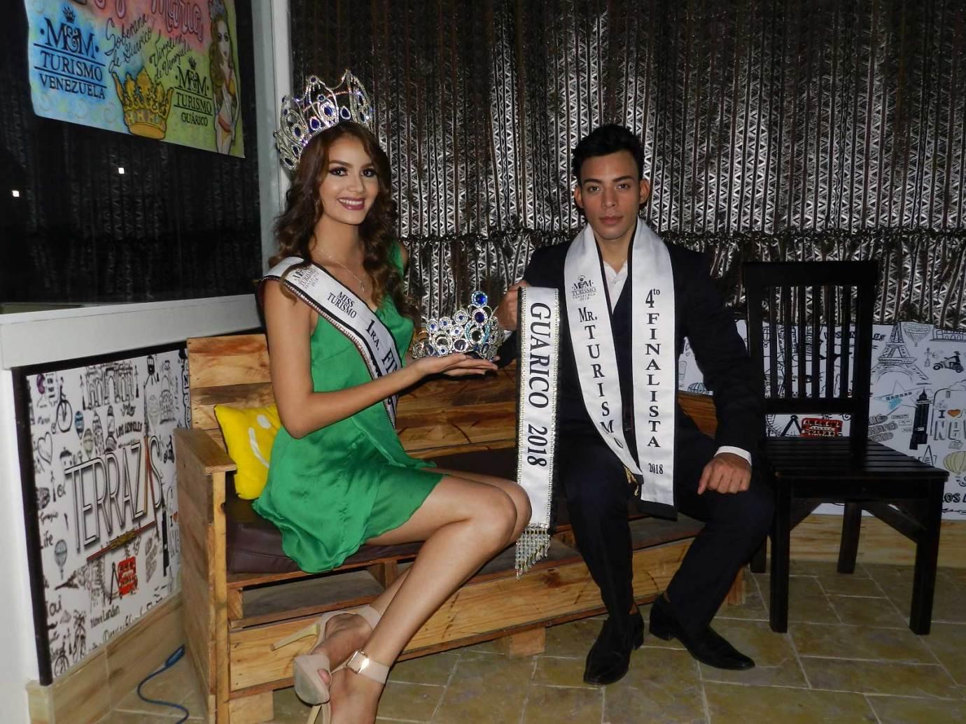 Luz Ledezma y Ronaldo Garcia, representantes de Guárico en el Miss y Mister Turismo Venezuela.