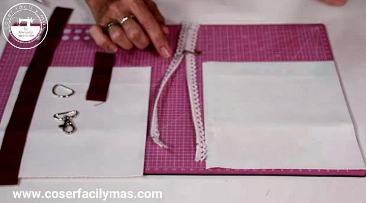 Materiales para el Neceser de carlota bolso