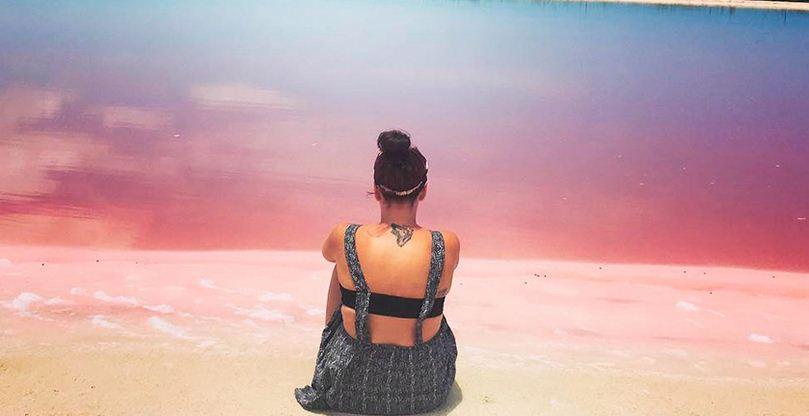 Observar las playas rosas de Las Coloradas