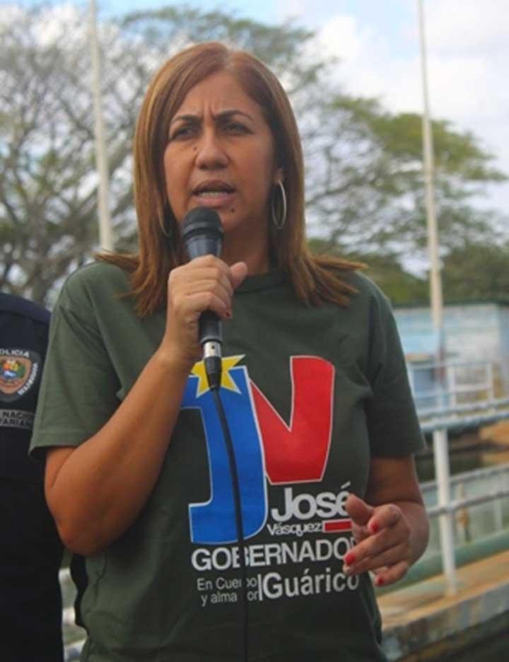 La mandataria local Nidia Loreto.