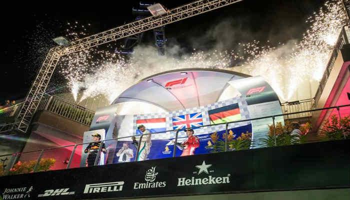 El podio estuvo conformado por las 3 mejores escuderías de la F1