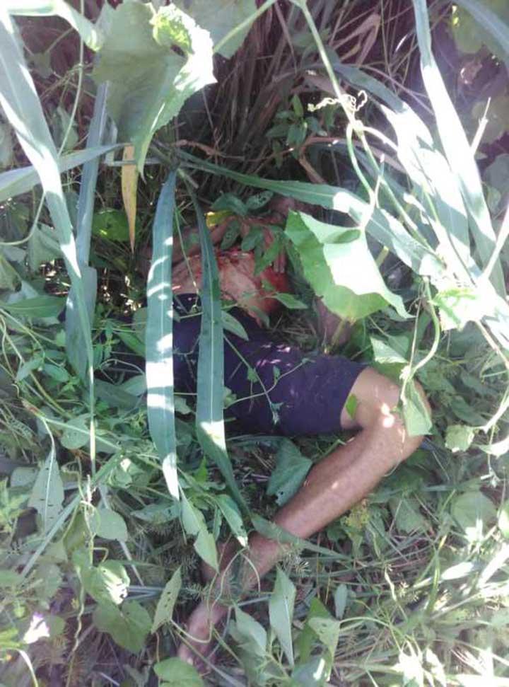 El cadáver quedo en una zona boscosa del sector El Triunfo