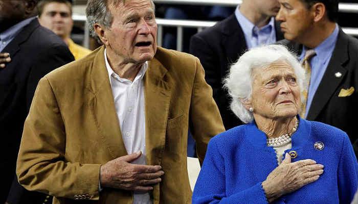 Ocho meses atrás su amada esposa la ex primera dama Barbara Bush también falleció