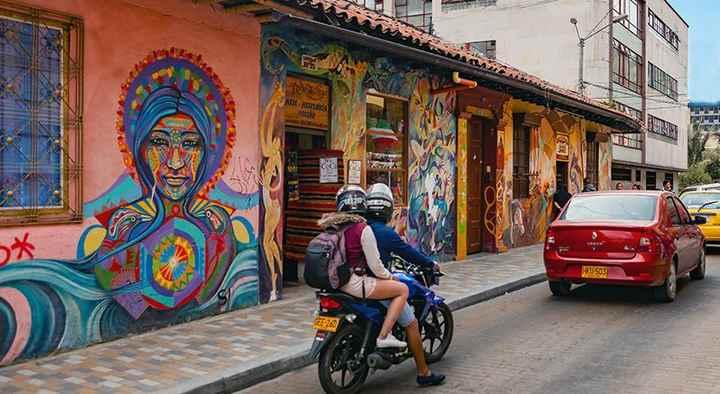 El barrio colonial de La Candelaria