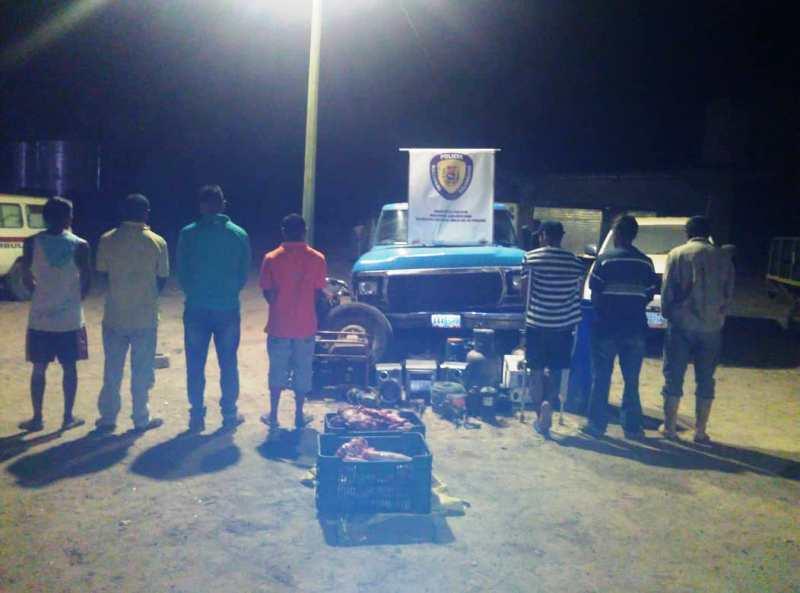 Siete personas fueron arrestadas por la PNB en Valle de la Pascua.