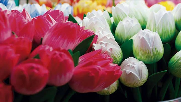 los jardines de Keukenhof exponen millones de bulbos de tulipones.