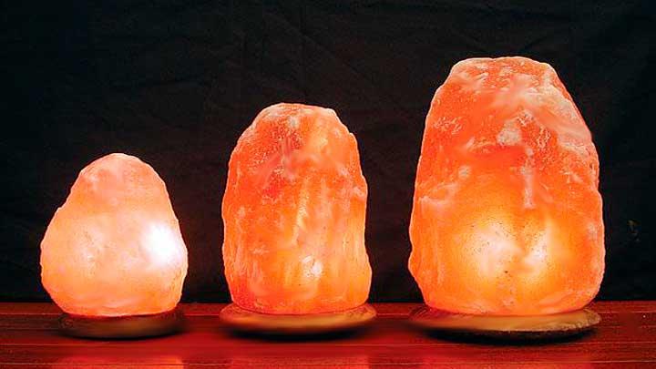 Lamparas de sal del Himalaya