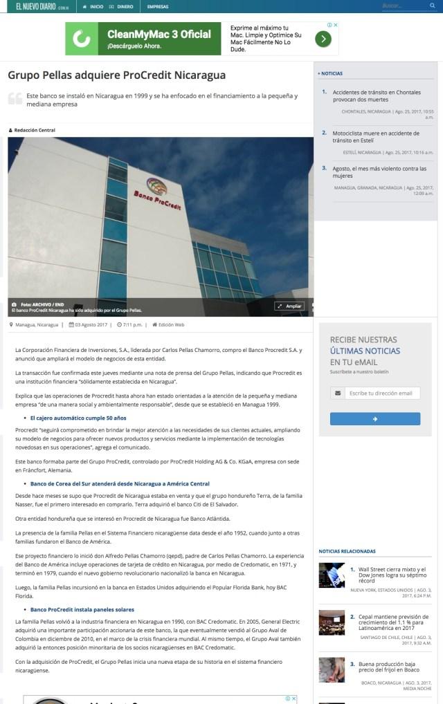 El Nuevo Diario - ProCredit
