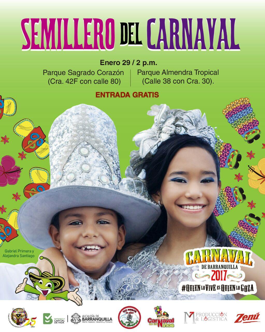Que no muera la tradición, Semillero Del Carnaval hoy en el Parque Sagrado Corazón