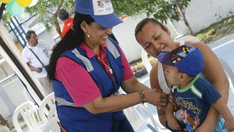 Soledad cumplió con la primera jornada nacional de vacunación de 2017