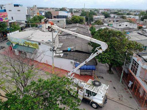Este 15 de julio, reubican redes eléctricas en el barrio Abajo
