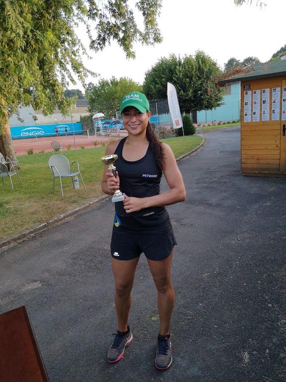 'Mafe' Herazo, del Team Barranquilla, Subcampeona en dobles en Francia