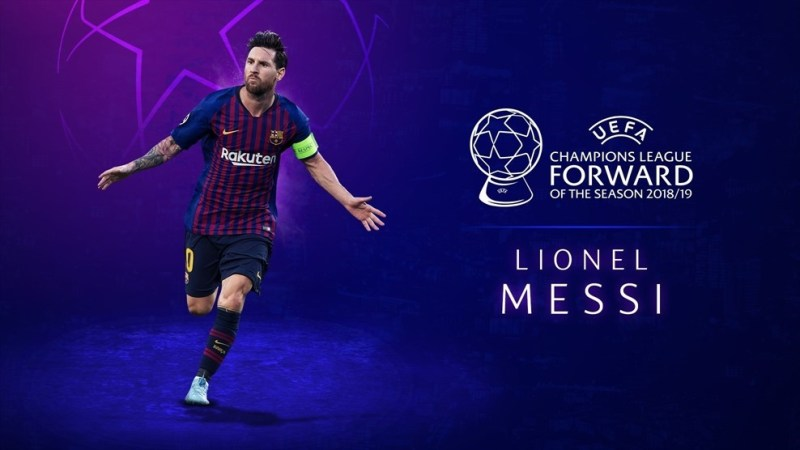 Lionel Messi, Delantero de la Temporada de la UEFA Champions League