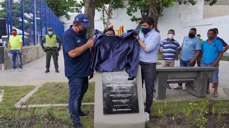 Tres nuevos parques entregó el alcalde Pumarejo en los barrios Villa Carolina, Paraíso y Siape