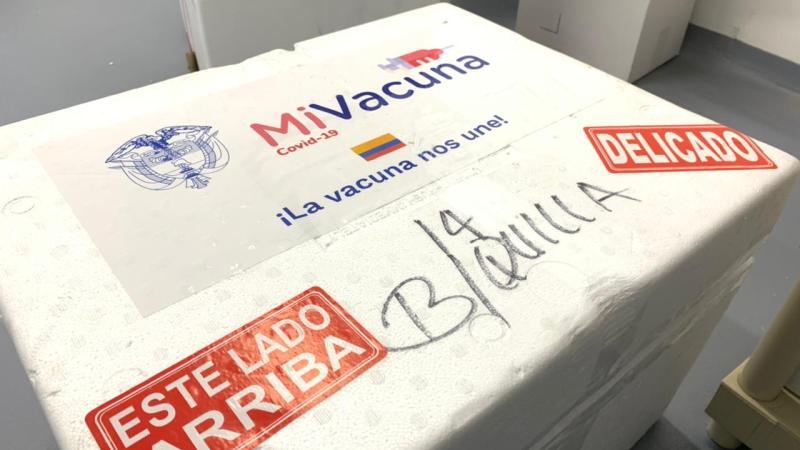 Llegan otras 33.385 dosis a Barranquilla, incluido primer lote de AstraZeneca