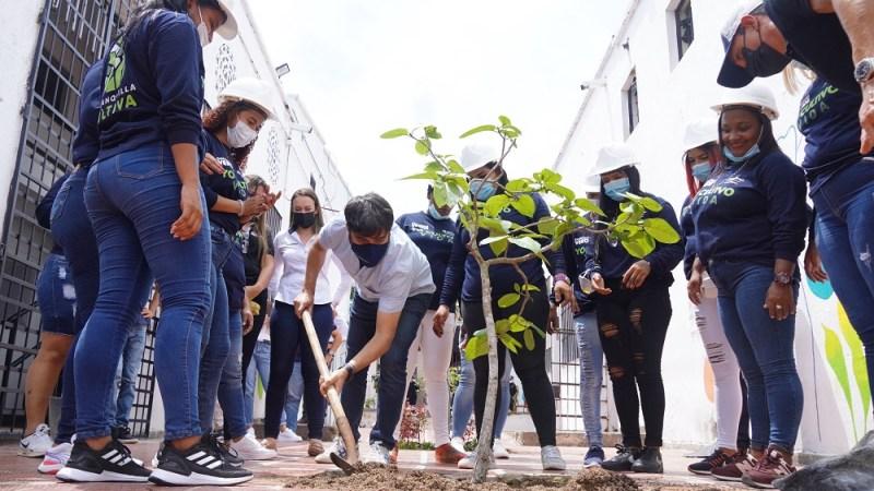 Sembrar, cultivar y crear jardines, resocialización 'verde' para internas en El Buen Pastor