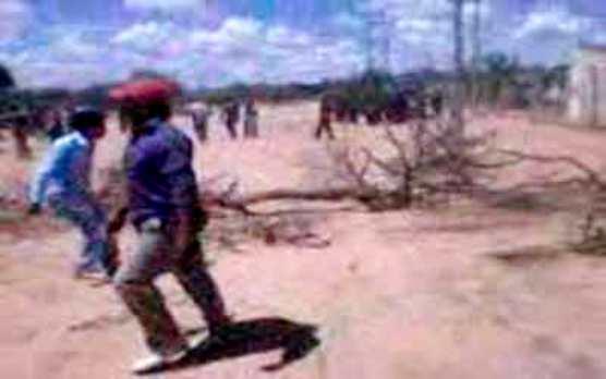Momento durante la represión