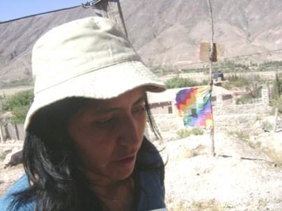 Verónica Mamaní, presidente de la Comunidad Cueva del Inca