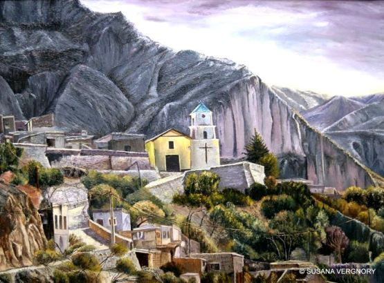 """Iruya Colosal"", por Susana Vergnory. Óleo con espátula, 60 x 80 cm"