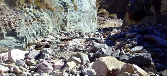 Camino a San Isidro, una de las comunidades del departamento de Iruya
