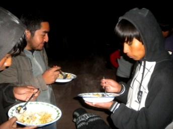 Compartiendo la cena