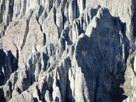 La erosión puede realizar formas que compiten con la imaginación. (Foto: Pablo Harvey).