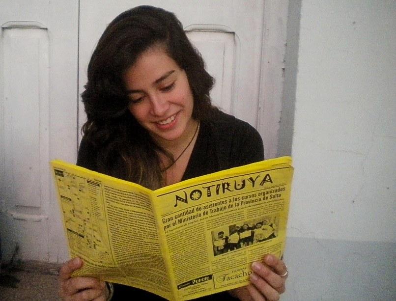 Rocío, de Sancti Spiritu, con un ejemplar de NOTIRUYA