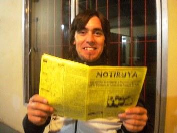 Dardo Cavelis, de San Eduardo (Santa Fe) con NOTIRUYA
