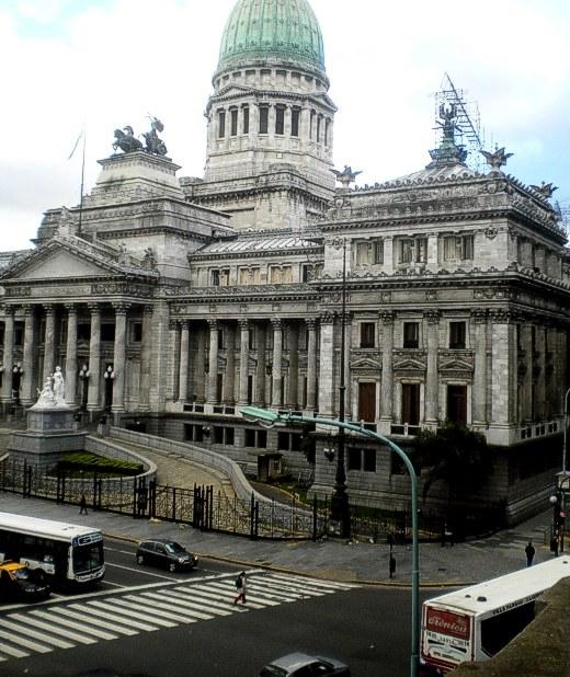Vista de una parte del frente del Congreso Nacional