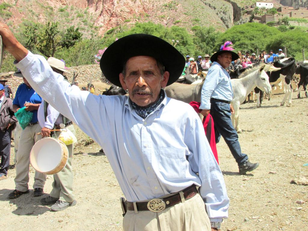 Don Andrés Gallardo, presidente de la Asociación Gauchos de Iruya. (Foto: Pablo Harvey).