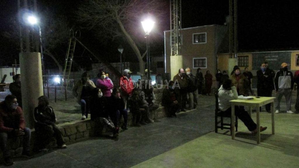 Vecinos de Iruya autoconvocados, el 10 de julio en Plaza La Tablada.