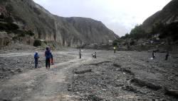 En la playa del río Iruya