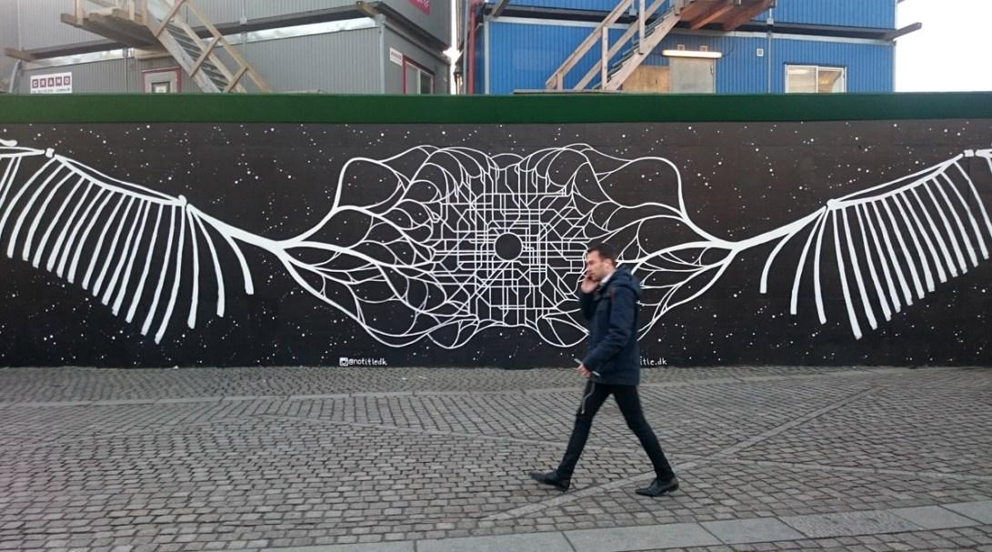 Vægmaleri på Kongens Nytorv, København