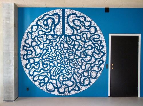 Vægmaleri i boligforening i Aarhus