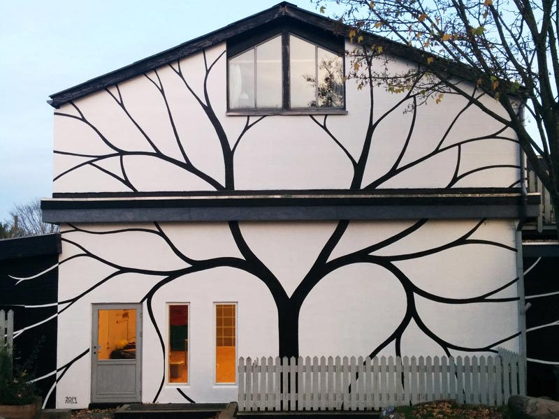 Gable painting Roskilde Denmark