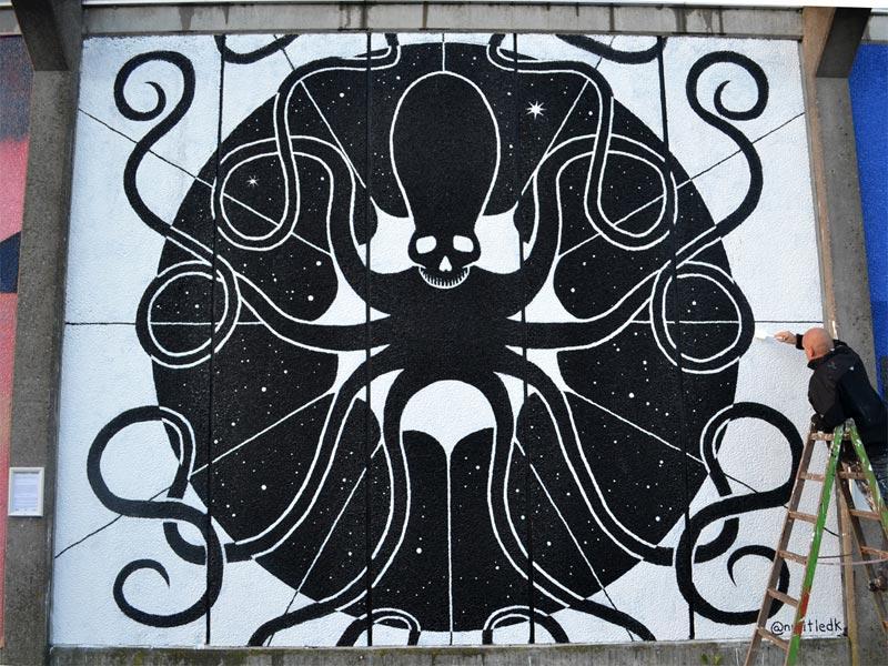 Mural Roskilde Street Art Musicon Denmark