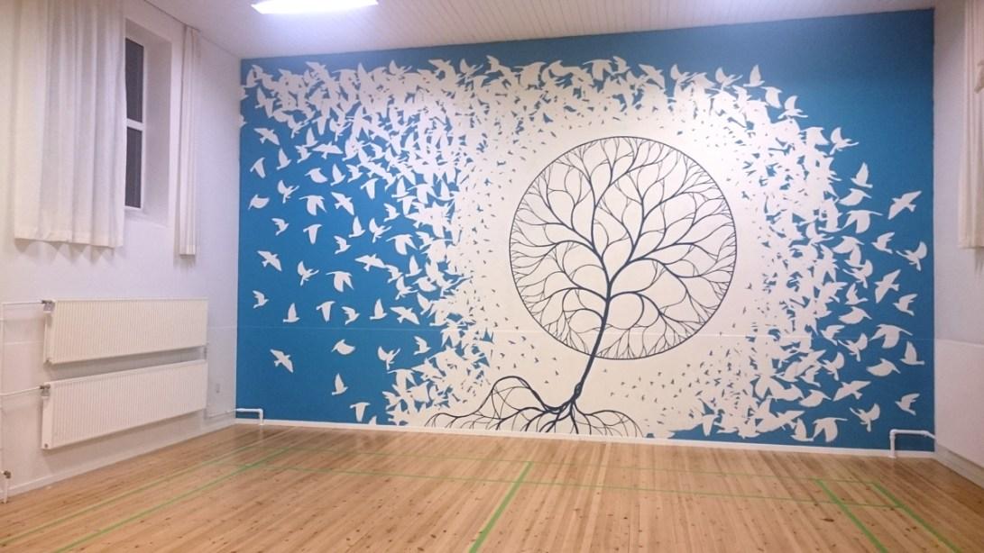 Mural Roskilde gym wall