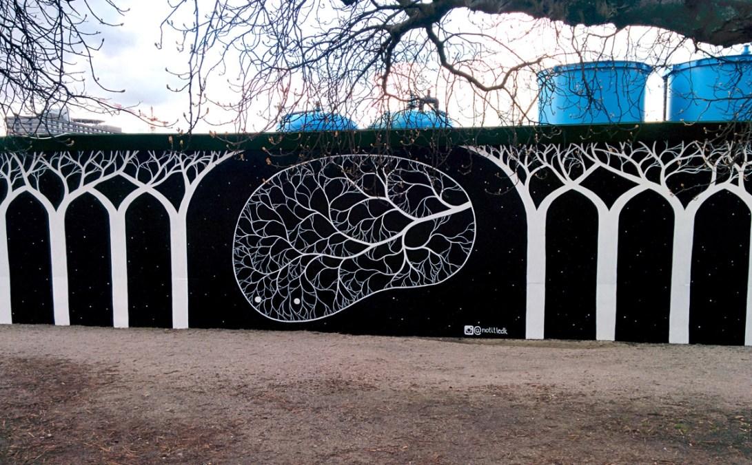 Vægmaleri ved Øster Søgade, København