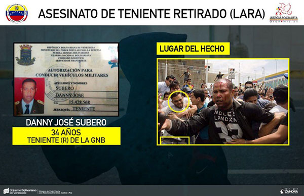Detenidos por linchar a GNB en Cabudare | Imagen: MPPRIJP