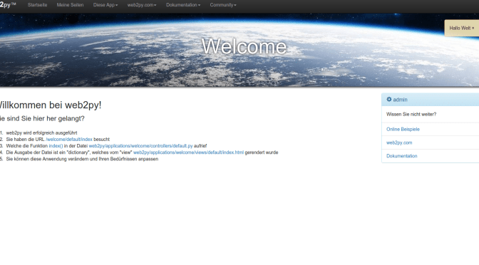web2py auf einem entfernten Server installieren
