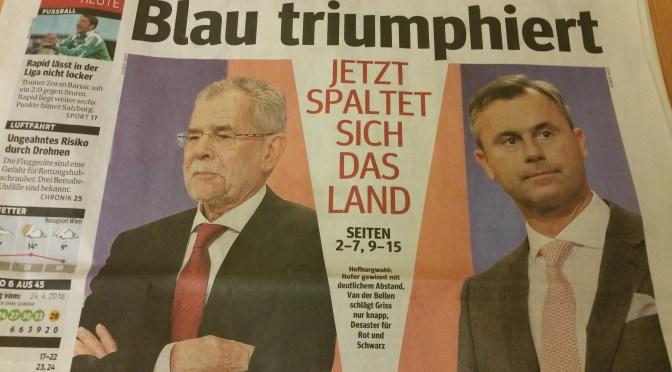 Für mich gibt es nichts Neues nach der BP-Wahl! Von welcher Sensation berichten die Medien da eigentlich?