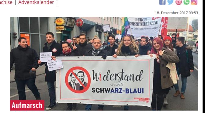 Demos der Staatsfeinde in Wien