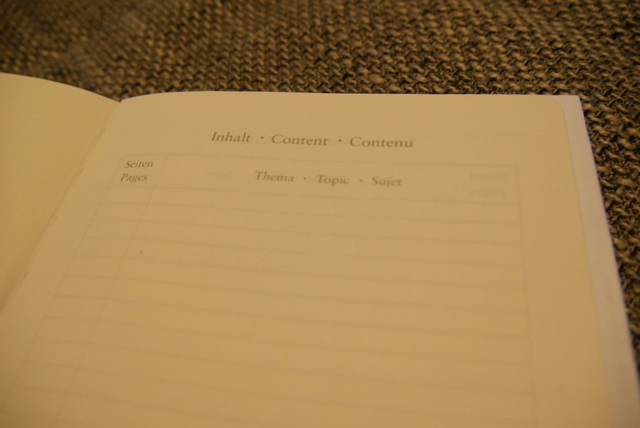 Leuchtturm1917 Notizbuch Inhaltsverzeichnis